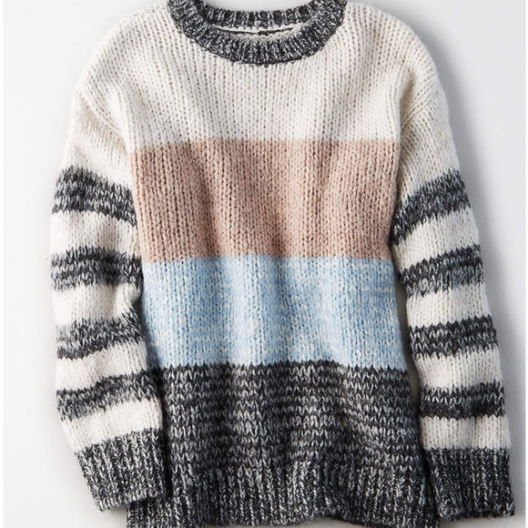 American Eagle Outfitters Sweaters - AE Striped Colour Block Sweater